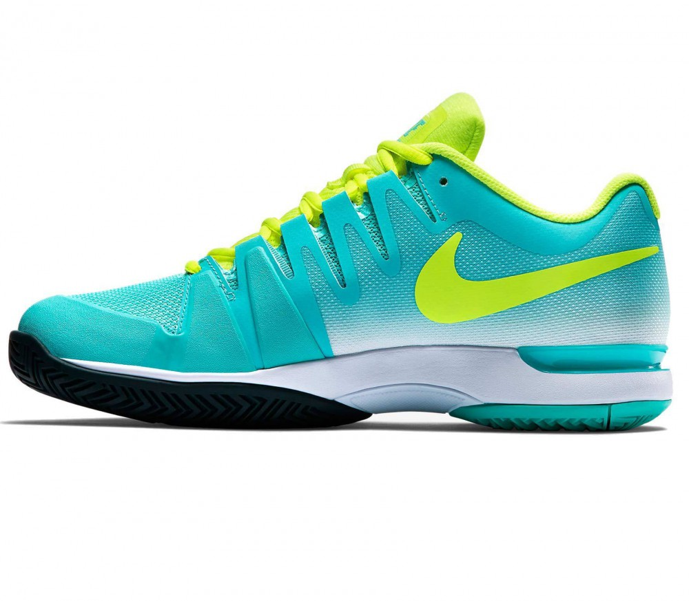 Nike - Zoom Vapor 9.5 Tour Mujer Zapato de tenis (amarillo/turquesa ...