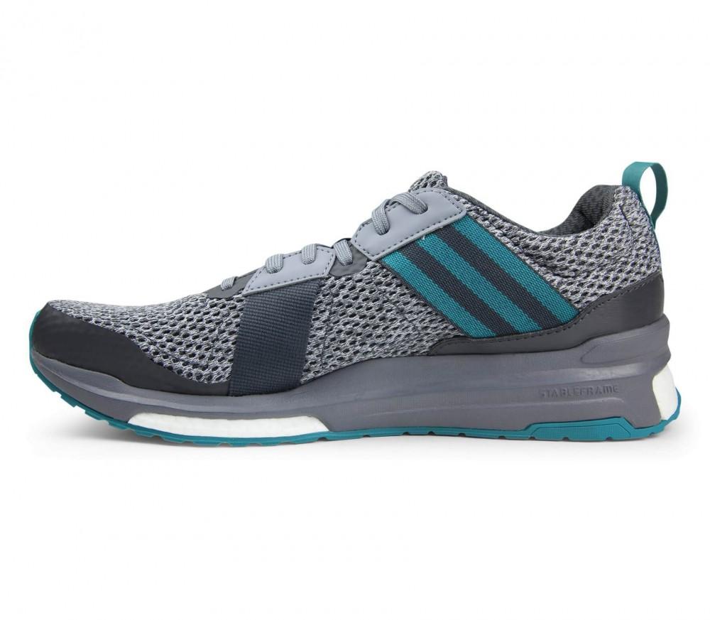 Adidas - Revenge Boost Mesh Hombre Zapatos para correr (gris/dunkeltürkis)
