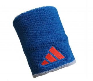 Adidas - Muñequeras de tenis - 2 unidades (azul)