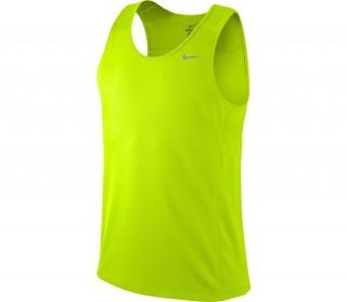 Nike - Miler Singlet Team Camiseta para hombre (verde)