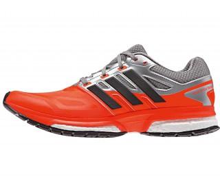 Adidas - Response Boost Techfit Zapatillas para hombre (rojo/gris)