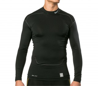 Nike - Core Compression LS 2.0 Camiseta para hombre (negro/gris)