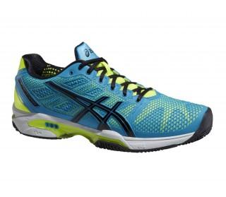 Asics - Gel-Solution Speed Zapatillas para hombre (azul/amarillo)