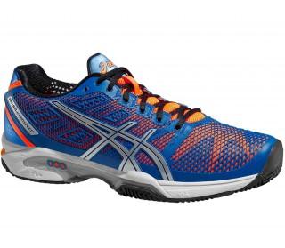 Asics - Gel-Solution Speed 2 Clay Zapatillas de tenis para hombre (azul/naranja)