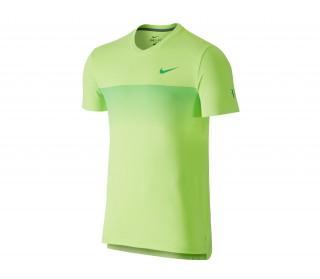Nike - Premier Roger Federer Crew Camiseta de tenis para hombre (verde)