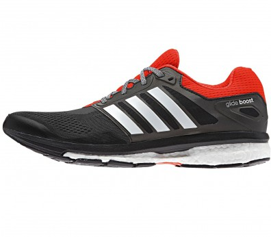 Adidas - Supernova Glide Boost 7 Zapatillas para hombre (negro/rojo)