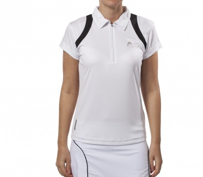 Head - Club Line Polo para mujer (blanco/negro)